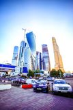 MOSCA, RUSSIA 8 AGOSTO 2014 Costruzioni a nuovo Fotografie Stock