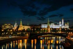 Mosca, Russia - 5 agosto Cremlino di Mosca, argine di Cremlino immagini stock