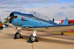 MOSCA, RUSSIA - AGOSTO 2015: texano degli aerei di istruttore T-6 presentato Fotografia Stock Libera da Diritti