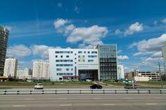 Mosca, Russia 24 aprile 2016 Ambulatorio numero 201 in Zelenograd Fotografia Stock Libera da Diritti