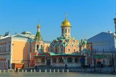 Mosca, Russia - 15 aprile 2018: Cattedrale di Kazan sul quadrato rosso a Mosca su una mattina soleggiata Fotografie Stock Libere da Diritti