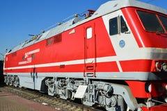 Mosca, Russia - 1° aprile 2017 EP200 - locomotiva elettrica ad alta velocità sperimentale di CA in museo di storia di trasporto f Immagini Stock Libere da Diritti