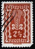 MOSCA, RUSSIA - 2 APRILE 2017: Un bollo della posta stampato in Austria Immagine Stock