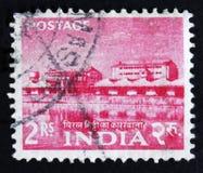 MOSCA, RUSSIA - 2 APRILE 2017: Un bollo della posta stampato in India SH Immagine Stock Libera da Diritti