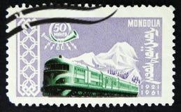 MOSCA, RUSSIA - 2 APRILE 2017: Un bollo della posta stampato in Mongolia Fotografia Stock Libera da Diritti