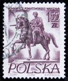 MOSCA, RUSSIA - 2 APRILE 2017: Un bollo della posta stampato in Polonia s Fotografie Stock