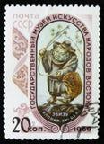 MOSCA, RUSSIA - 2 APRILE 2017: Un bollo della posta stampato in sho dell'URSS Fotografie Stock Libere da Diritti
