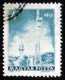 MOSCA, RUSSIA - 2 APRILE 2017: Un bollo della posta stampato in Ungheria Fotografie Stock