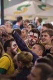 07 11 2018, Mosca, Russia Coppa del Mondo 2018 Tifosi sulla via stasera fotografia stock