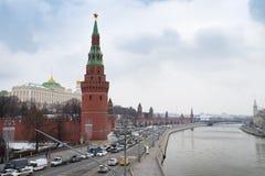 Mosca, Russia - 21 dicembre 2017: Mosca, Russia Mosca Kreml Fotografia Stock Libera da Diritti
