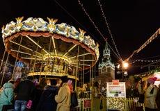 Mosca, Russia - 25 dicembre 2015: le celebrazioni di Natale sopra Immagine Stock