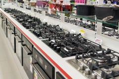 Mosca, Russia - 2 febbraio 2016 Grandi catene di negozi interne di Mvideo che vendono elettronica e gli elettrodomestici Immagini Stock Libere da Diritti