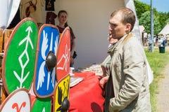MOSCA, RUSSIA - 7 GIUGNO 2015: I tempi e le epoche di festival Immagini Stock Libere da Diritti