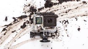 MOSCA, RUSSIA 29 giugno 2015: Il nero dell'eroe 4 di GoPro fotografie stock