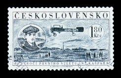 MOSCA, RUSSIA - 20 GIUGNO 2017: Un bollo stampato in Czechoslovaki Fotografia Stock Libera da Diritti