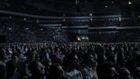 Mosca, Russia, il 4 aprile 2018 Steve Wozniak il co-fondatore dei calcolatori Apple dà la conferenza su innovazione e video d archivio