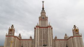 Mosca, Russia La costruzione dell'università di Stato di Mosca video d archivio