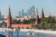 MOSCA, RUSSIA - 21 09 2015 la Mosca-città del centro di affari di Cremlino e dell'internazionale di Mosca Fotografia Stock Libera da Diritti