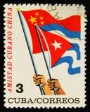 MOSCA, RUSSIA - 15 LUGLIO 2017: Bollo raro stampato nelle manifestazioni di Cuba Immagine Stock Libera da Diritti