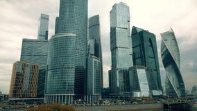 MOSCA, RUSSIA - 25 LUGLIO 2017 I grattacieli internazionali del centro MIBC di affari di Mosca Immagini Stock Libere da Diritti