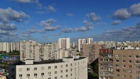 Mosca, Russia - 18 luglio 2016 Paesaggio della città del distretto Zelenograd, timelapse video d archivio