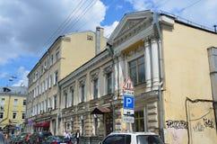 """Mosca, Russia, maggio, 19, 2017 Alloggi il nessun palazzo di Rutkovsky 1888 anni costruito, architetto del †5"""" V B Rutkovsky in Fotografia Stock Libera da Diritti"""