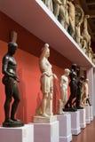 Mosca, Russia - 9 novembre 2017: Fila delle statue nel museo delle belle arti, più grande museo di Pushkin di arte europea dentro Fotografie Stock