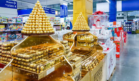 Mosca, Russia - 30 novembre: Metropolitana del centro commerciale sopra Fotografia Stock
