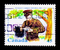 MOSCA, RUSSIA - 24 NOVEMBRE 2017: Un bollo stampato nel Canada SH Fotografia Stock Libera da Diritti