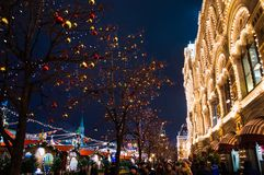 Mosca, Russia, nuovo anno, quadrato rosso, kremlin, natale fotografie stock libere da diritti