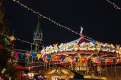 Mosca, Russia, nuovo anno, quadrato rosso, kremlin, natale fotografia stock