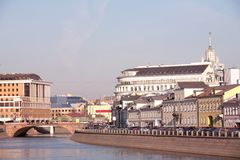 Mosca, Russia, paesaggio della città Immagini Stock Libere da Diritti