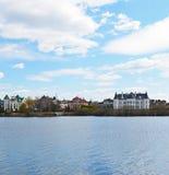 MOSCA, RUSSIA - 04, 22,2015 palazzo costoso nello stabilimento Myakinino del cottage Fotografia Stock