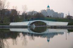 MOSCA RUSSIA Parco del villaggio olimpico fotografia stock libera da diritti