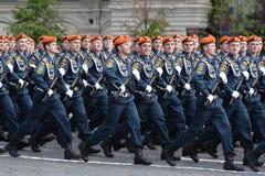 Mosca, Russia - possono 09, 2008: celebrazione della parata di Victory Day WWII sul quadrato rosso Passaggio solenne di attrezzat Fotografia Stock