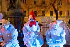 MOSCA, RUSSIA, prestazione all'aperto a Mosca Fotografia Stock Libera da Diritti