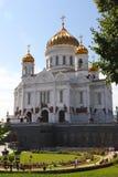 Mosca, Russia, tempiale del Christ del salvatore Fotografie Stock Libere da Diritti