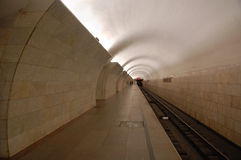 Mosca sotterranea, stazione Tverskaya Fotografia Stock Libera da Diritti