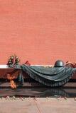 Mosca. Tomba del soldato sconosciuto. Fuoco eterno. Fotografia Stock Libera da Diritti