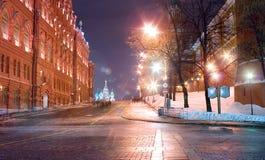 Mosca, via nel quadrato rosso Fotografia Stock Libera da Diritti
