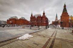 Mosca, vista del quadrato rosso Immagini Stock