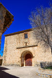 Moscardon church in Sierra Albarracin of Teruel Royalty Free Stock Photos