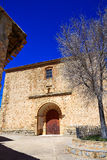 Moscardon church in Sierra Albarracin of Teruel Royalty Free Stock Photo