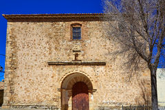 Moscardon church in Sierra Albarracin of Teruel Royalty Free Stock Images