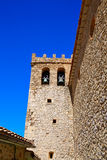 Moscardon church in Sierra Albarracin of Teruel Stock Image