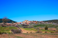 Moscardon village in Sierra Albarracin at Teruel Royalty Free Stock Photo