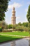 Moscatel, Omán - mezquita magnífica de Qaboos del sultán Imágenes de archivo libres de regalías