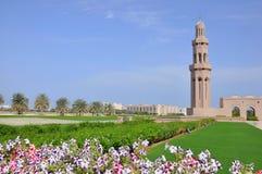 Moscatel, Omán - mezquita magnífica de Qaboos del sultán Fotos de archivo libres de regalías