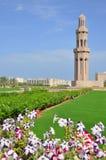 Moscatel, Omán - mezquita magnífica de Qaboos del sultán Fotografía de archivo