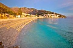 Moscenicka Draga turquoise beach at sunrise Royalty Free Stock Photo